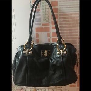 B MAKOWSKY 100% Leather Bag Purse Black